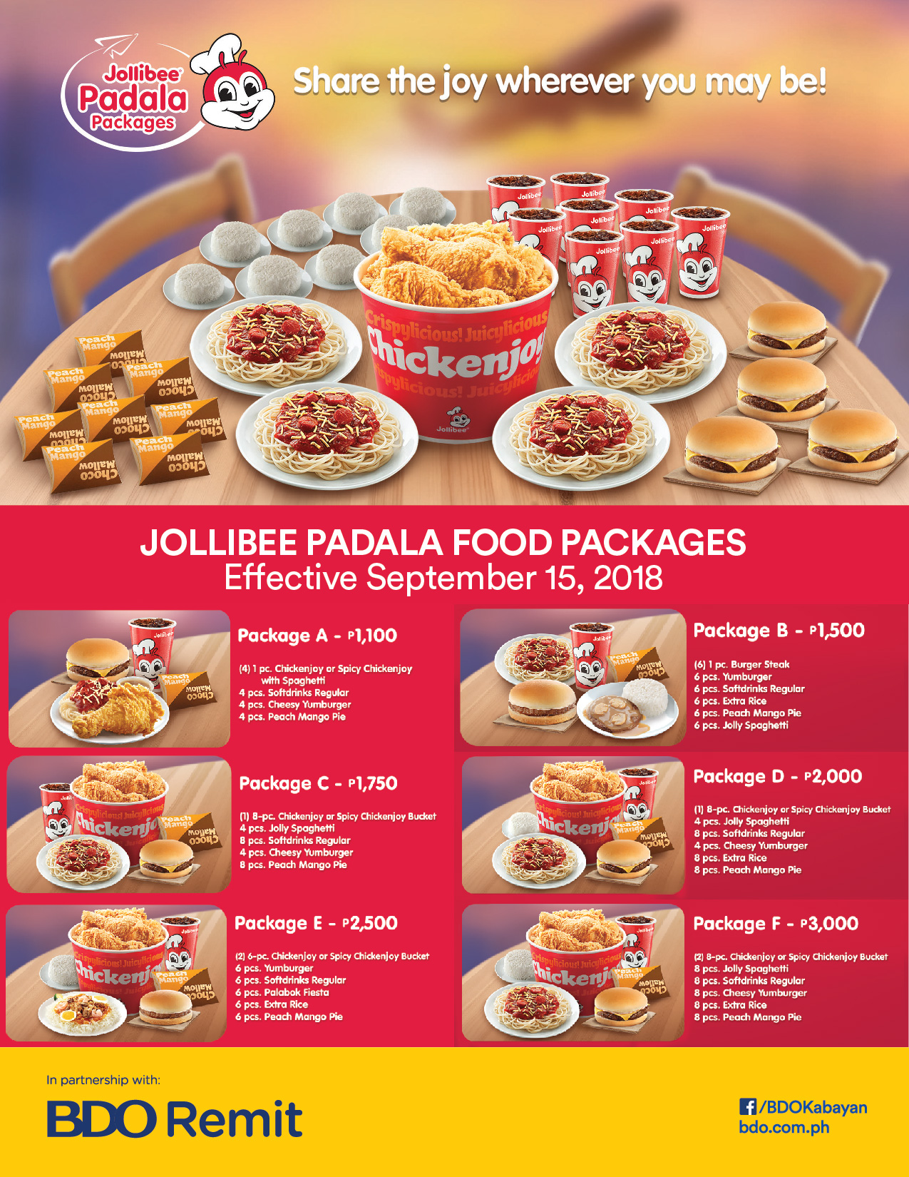 Jollibee Food Packages 2019